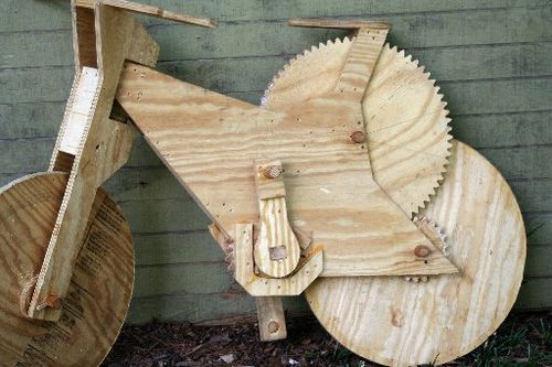 Wooden bicycle 2