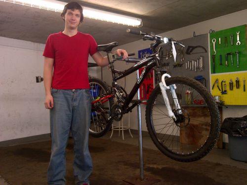 Burt and bike